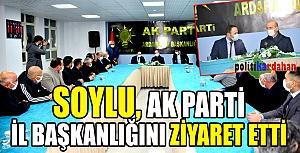 İçişleri Bakanı Süleyman Soylu, AK Parti İl Başkanlığını ziyaret etti