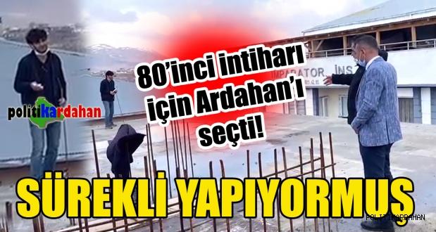 80'inci intihar numarasını Ardahan'da denedi!