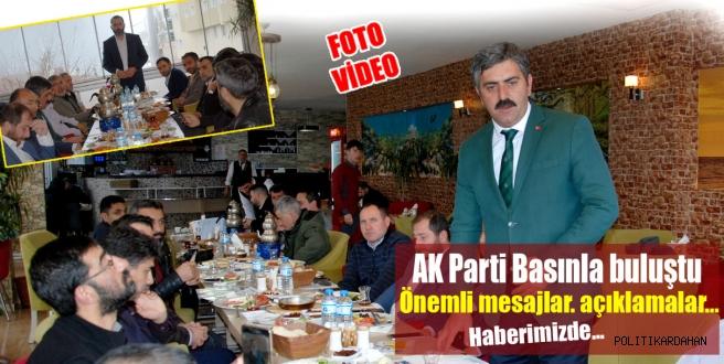 AK Parti basınla buluştu.. Önemli açıklamalar haberimizde