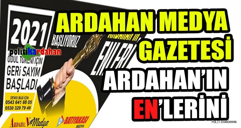 Ardahan Medya Gazetesi, Ardahan'ın En'lerini ödüllendirecek!