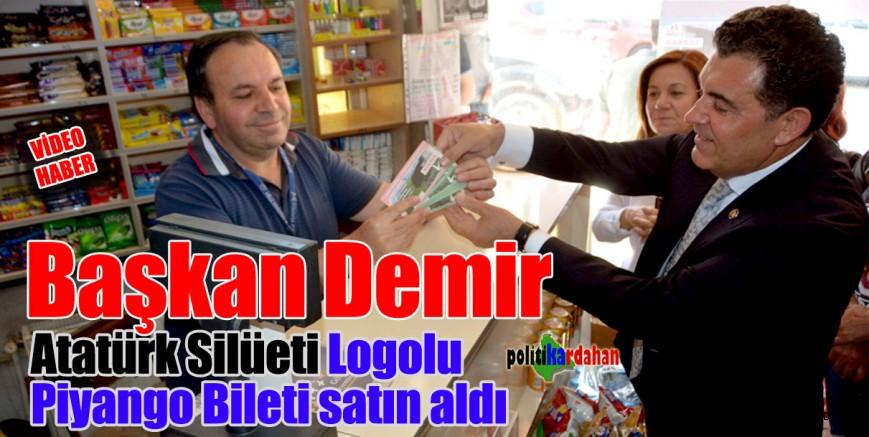 Başkan Demir, Atatürk Silüeti logolu Milli Piyango bileti satın aldı