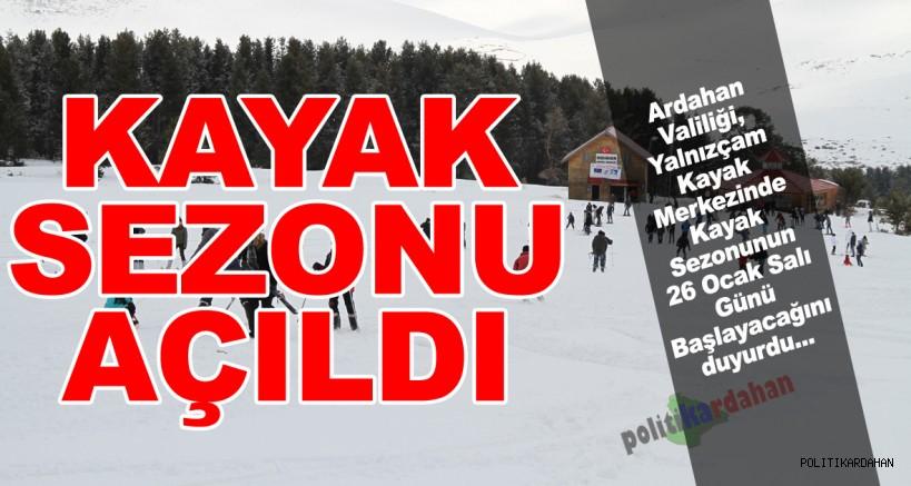 Beklenen açıklama yapıldı….Yalnızçam Kayak Merkezinde sezon açıldı!