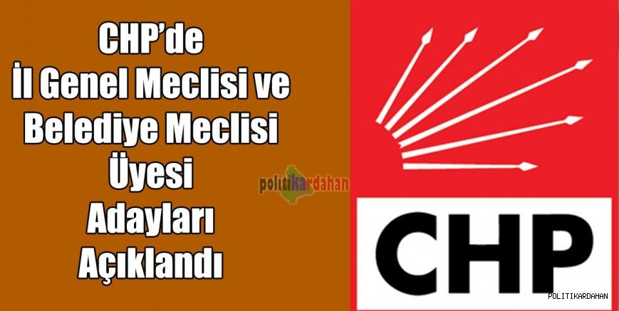 CHP, meclis üyelerini açıkladı