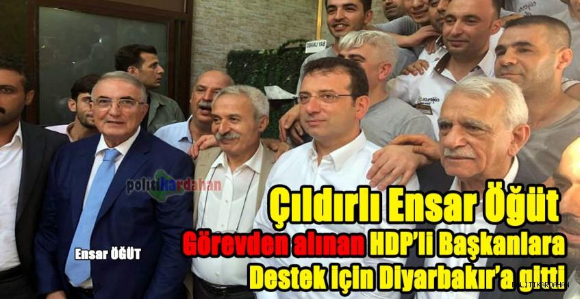 Çıldırlı Ensar Öğüt, görevden alınan HDP'li Başkanlara destek için Diyarbakır'a gitti