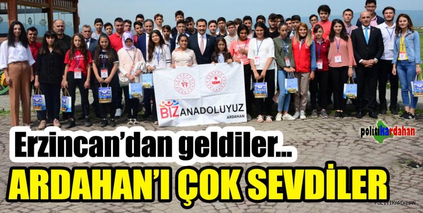 Erzincan'dan geldiler, Ardahan'ı çok sevdiler…