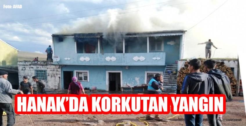 Hanak'da korkutan yangın