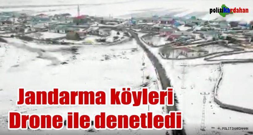 Jandarma, köyleri drone ile denetledi