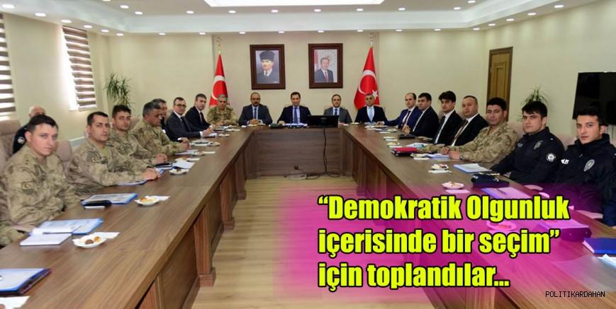 Seçim Güvenliği Toplantısı