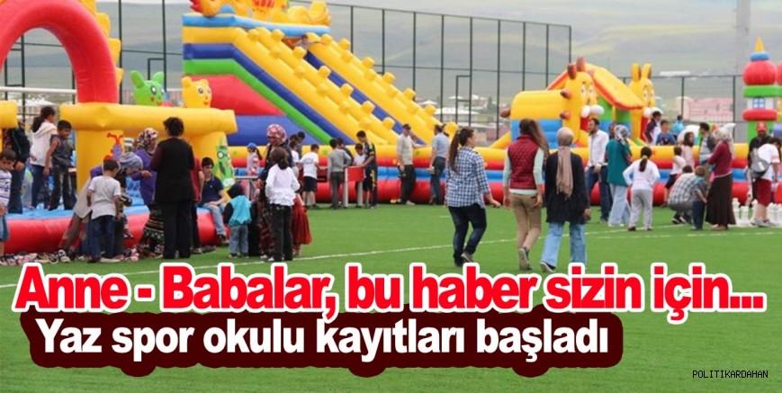 Yaz spor okulları başlıyor…